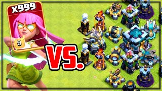EVERY Defense vs. NEW Super Archer! Clash of Clans UPDATE!