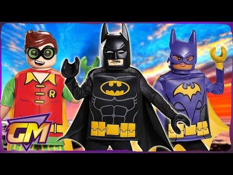Lego Batman Movie Kids Parody: With Real Life Superman & Joker!