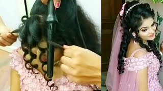 Baixar Advanced real engagement hairstyle// easy & simple party & wedding hairstyle 2019// #khushimakeovers