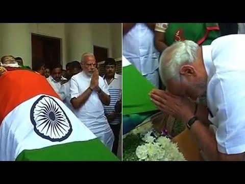 Watch | PM Modi pays homage to Jayalalithaa in Chennai