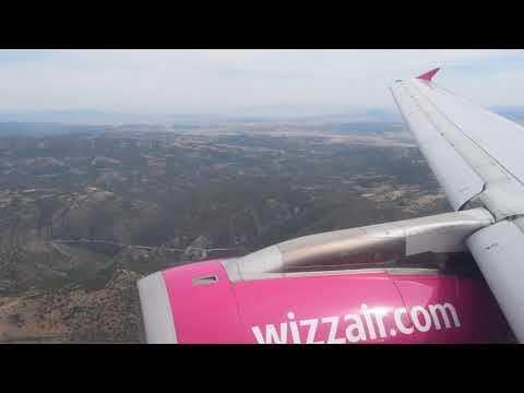 "Wizzair W6  7702 A320-200 Landing into Skopje ""Alexander the Great"" Airport | 2017-Sep-24"