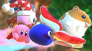 Kirby Star Allies Secret Way to Battle Whispy Woods Boss (Friend Star) Rick Kine Coo Marx & Gooey