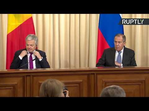 Conférence de presse de Sergueï Lavrov et de son homologue belge Didier Reynders
