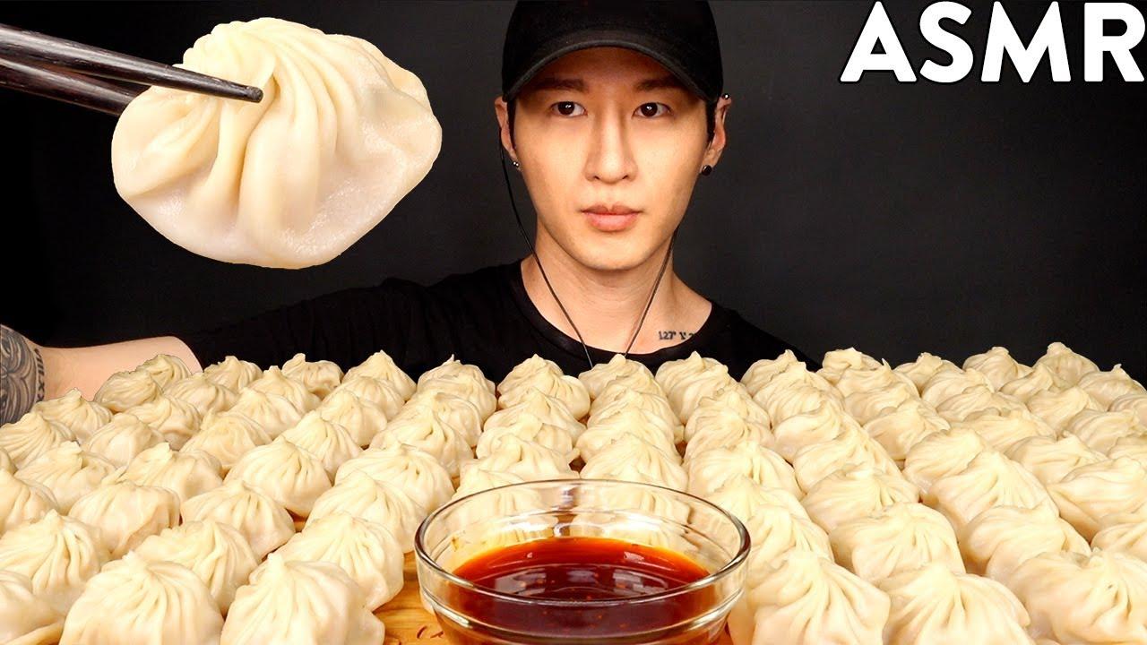 ASMR 100 DUMPLINGS MUKBANG (No Talking) EATING SOUNDS | Zach Choi ASMR