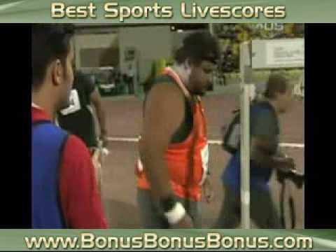Hoffa beats Olympic champ in shot put