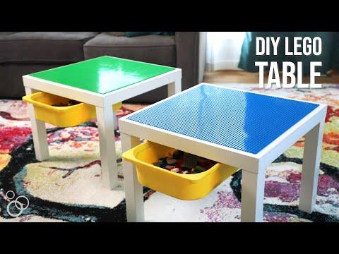 Easy DIY IKEA Lego Table With Storage
