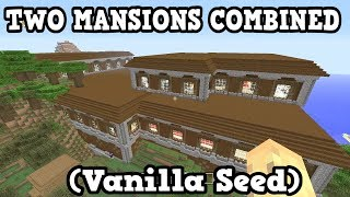 Minecraft PS4 / Switch - 2 MERGED MANSION SEED