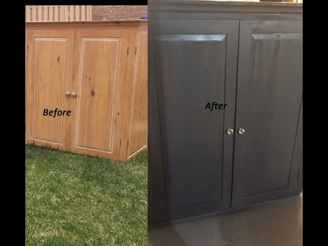 DIY Goodwill Cabinet Makeover