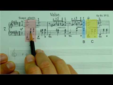 Dreiklänge eines Notenbeispiels bestimmen (ohne Klavier)