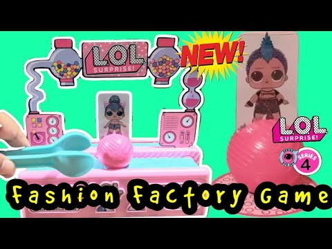 LOL Surprise Fashion Factory Game Unboxing and Review NEW Series 4 Eye Spy Game