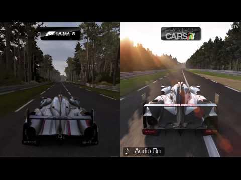 Forza 5 vs Project CARS - Audi R18 e-tron quattro at Circuit de la Sarthe