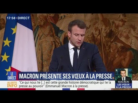 "Emmanuel Macron: ""La liberté de la presse est malmenée jusqu'en Europe"""