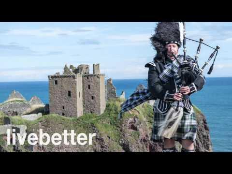 Musica scozzese tradizionale tipica folk strumentale con cornamusa