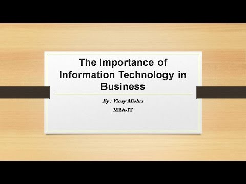 The Importance Of Information Technology In Business