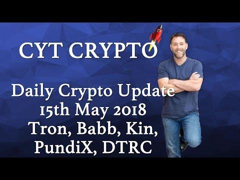 Daily Crypto Update - Tron, Babb, Kin, PundiX, Bitcoin, DTRC