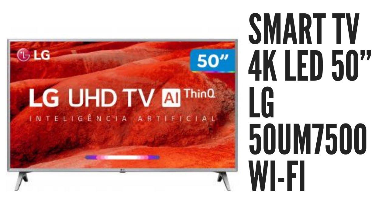 """Smart TV 4K LED 50"""" LG 50UM7500 (RETIRE NA LOJA) (MAGAZINE ..."""