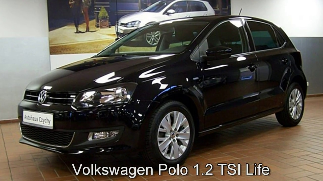 volkswagen polo 1 2 tsi life ey033009 deep black perleffekt 2013 autohaus czychy youtube. Black Bedroom Furniture Sets. Home Design Ideas