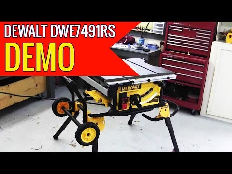 DEWALT DWE7491RS 10 Inch Jobsite Table Saw with 32 12 Inch Rip Capacity and Rolling Stand 2019 revie
