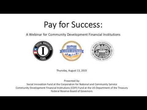 Community Development Financial Institutions Webinar