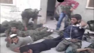 18+ FSA Free Syrian Army War Crimes | Execution of captured soldiers, Khan Asal 27 7 13