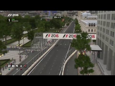 Super liga F1 Brasil - F1 2016 PS4 - GP Europa Baku