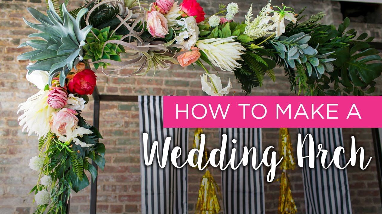 How-to: Wedding Arch - YouTube