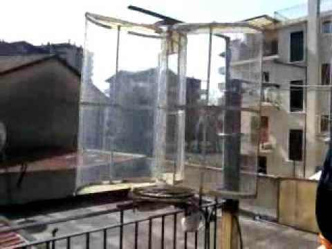generatore micro eolico da balcone - YouTube