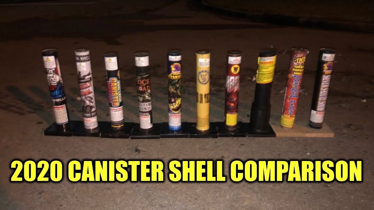 2020 Canister Shell Comparison || ALPHA PYRO