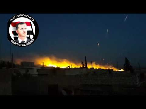 Syria, Aleppo, Northern Aleppo - Russian Air Force targeting Anadan Village Tonight.