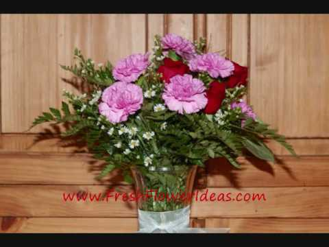 How To Arrange Roses And Carnations In A Vase Youtube