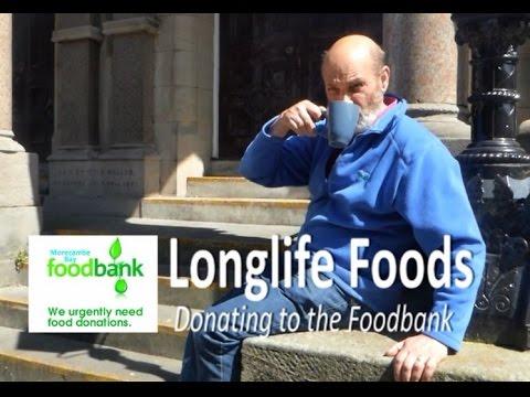 Morecambe Bay Foodbank Donating Longlife V Fresh With Roger