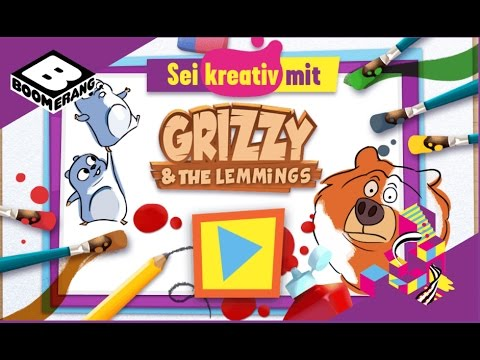 Grizzy And The Lemmings | Be Creative With Boomerang Games ✔