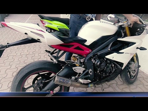 Triumph daytona r | CR racefit exhaust sound