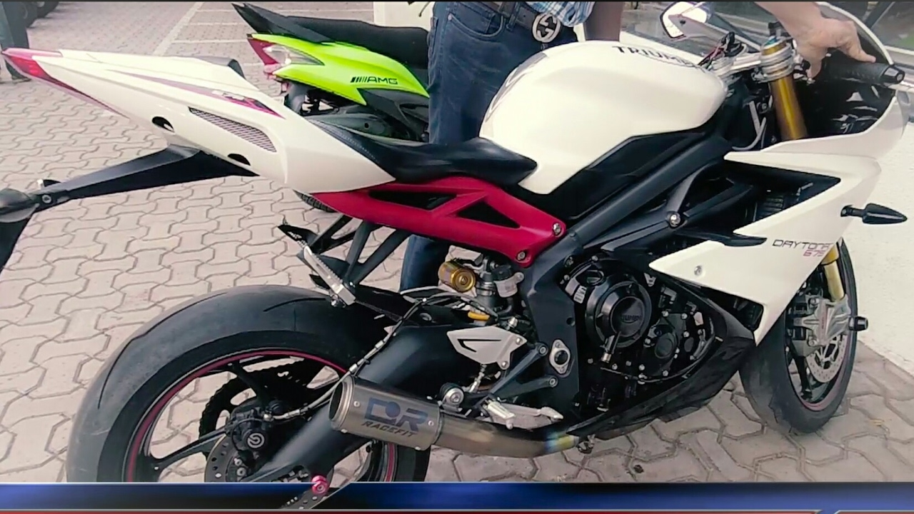 Triumph Daytona 675r Cr Racefit Exhaust Sound Youtube