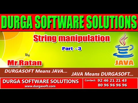 Corejava-String manipulation-part-3