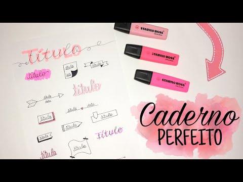 Ideias de títulos para deixar seu caderno perfeito