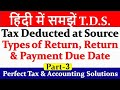 TDS Payment | TDS Return | What is TDS | TDS क्या है ? | Tax deducted at source | TDS Due Date