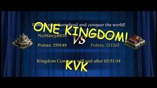 WE ARE ONE KINGDOM! WIN KVK ( CLASH OF KINGS )