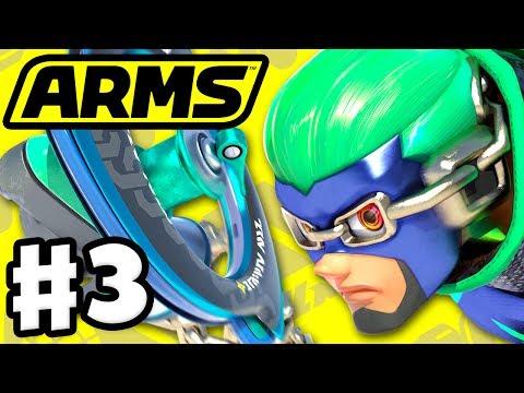 ARMS - Gameplay Walkthrough Part 3 - Ninjara Grand Prix Level 4! (Nintendo Switch)