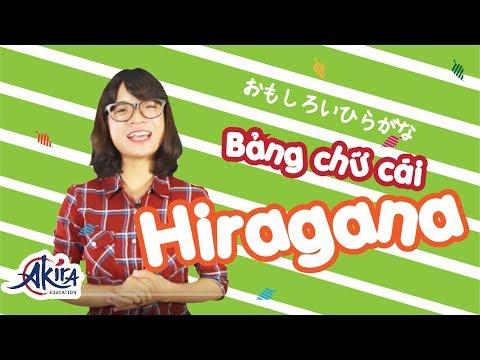 Bảng chữ cái tiếng Nhật Hiragana