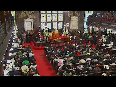 Charleston church holds service
