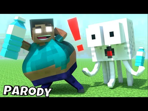 Monster School : Bottle Flip + RIP ALL BABY Monsters - Minecraft Animation