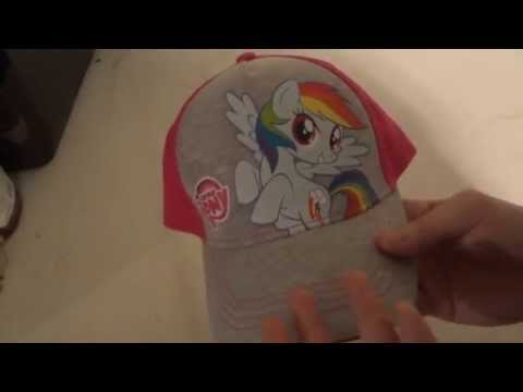 REViEW OF MLP FiM RAiNBOW DASH GREY AND PINK GiRLS BASEBALL HAT