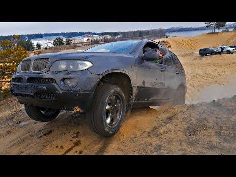 Сhevrolet Niva Vs BMW X5 бой за высоту