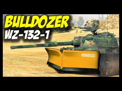 ► WZ-132-1, Tier 10 BULLDOZER! - World of Tanks WZ-132-1 Light Tank Gameplay