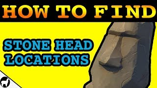 Fortnite Stone Head Locations | Visit Different Stone Heads Challenge Week 9