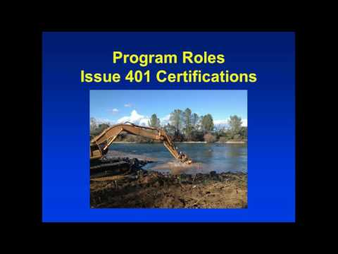 FY 15/16 Water Quality Certification Annual Report to the Board