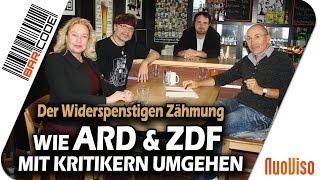Wie ARD & ZDF mit Kritikern umgehen - #BarCode mit Claudia Zimmermann & Bodo Schickentanz