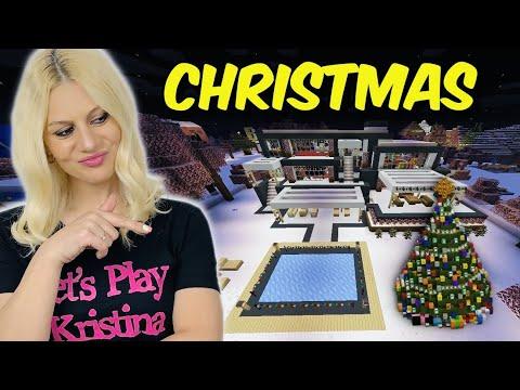 ΧΙΟΝΙΣΕ ΣΤΗΝ ΠΟΛΗ ΜΑΣ - ΣΤΟΛΙΖΟΥΜΕ ΓΙΑ ΤΑ ΧΡΙΣΤΟΥΓΕΝΝΑ MINECRAFT LET'S PLAY KRISTINA @Famous Games
