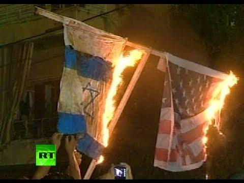 Anti-US riots video: American flags burned across Arab world